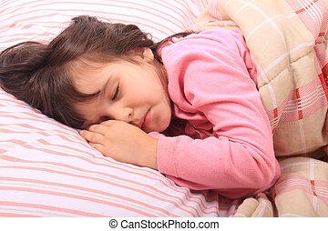 Little girl bedtime