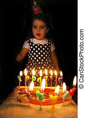 Little girl birthday party