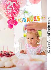 Little Girl Celebrate Happy Birthday Party