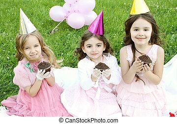 Little girl celebrating birthday