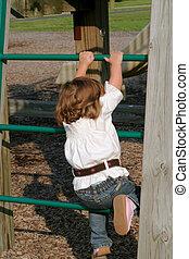 Little Girl Climbing 2