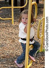 Little Girl Climbing 3