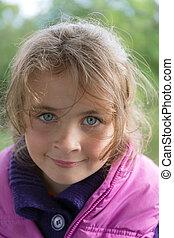 little girl closeup