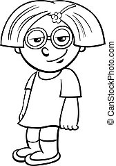 little girl coloring page