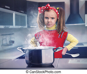 Little girl cooking