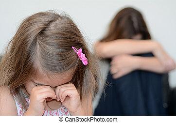 Little girl cring