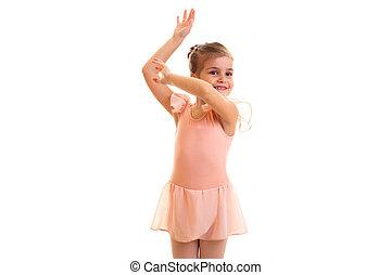 Little girl dancing