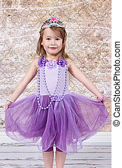 Little girl Dressed at Princess for halloween