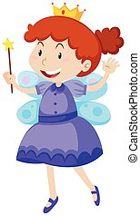 Little girl dressed in fairy costume