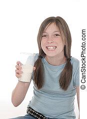 Little Girl Drinking Milk 3
