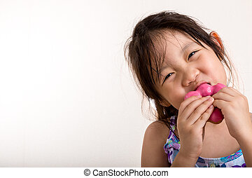 Little Girl Eating Donut / Little Girl Eating Donut Background