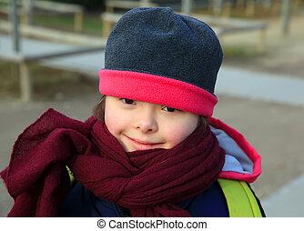Little girl enjoy in the park