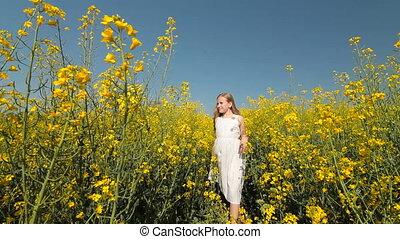 Little Girl Enjoying the Summer