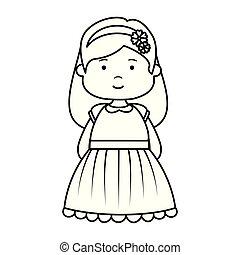 little girl first communion character