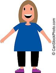 little girl flat design vector illustration