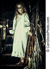 girl ghost in a nightgown