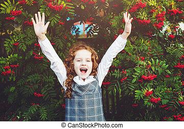 Little girl happy Back to school.