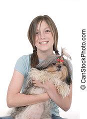 Little Girl Holding Puppy 1