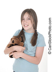 Little Girl Holding Teddy Bear 1