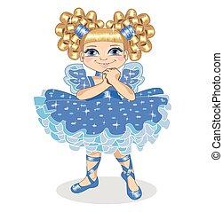 Little girl in a brilliant dress