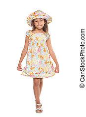 Little girl in a dress
