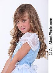 little girl in a fancy dress