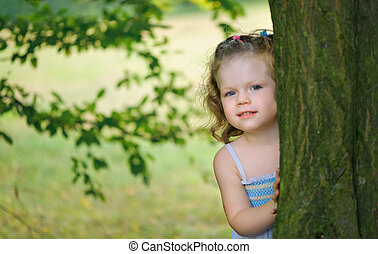 Little girl in a park
