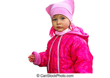 Little girl in cold weather