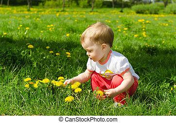 Little Girl In Dandelions