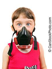 Little Girl in Gas Mask