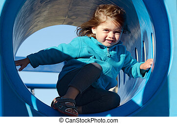 Little girl in playground