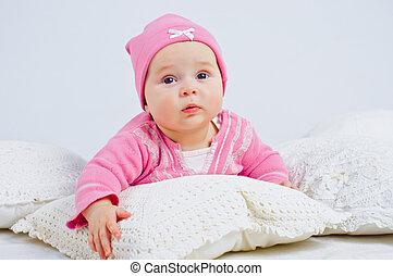 little girl in rose.