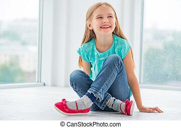 Little girl in school