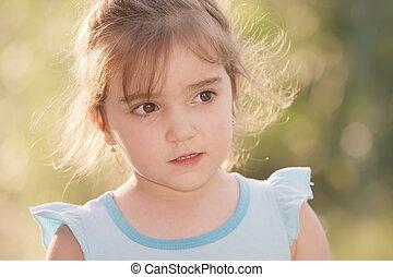 Little girl in sunlight