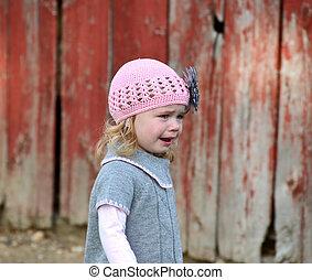 little girl in tears - Little girl in tears and wearing a ...