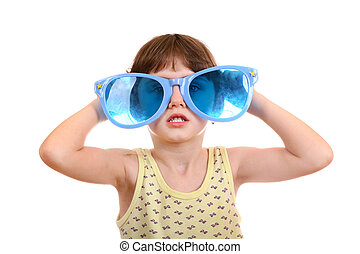 Little Girl in the Big Glasses - Little Girl with Big Blue...