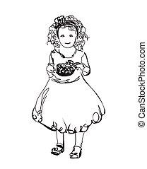 Little girl in the dress