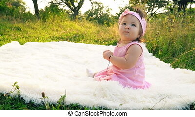 little girl in the nature