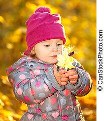 Little girl in the park