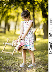 Little girl in the park