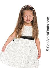 Little girl in the white dress