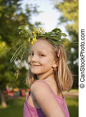 girl in the wreath