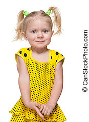 Little girl in the yellow dress