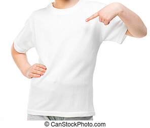 little girl in white t-shirt