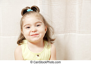 Little girl in yellow dress