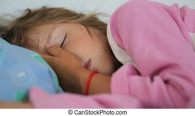 Little girl is sleeping