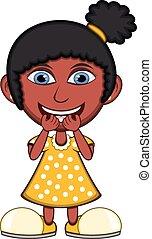 Little girl laughing cartoon vector