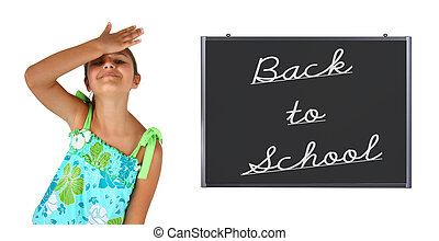 Little girl back to school