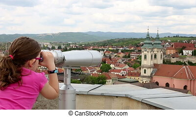 little girl looking on Eger