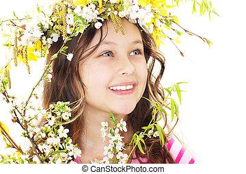 Little girl of spring